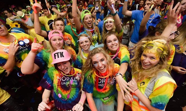 Students at The University of Alabama Dance Marathon