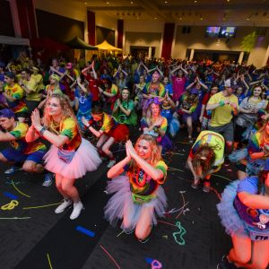University of Alabama students perform the UADM line dance at the 2016 Main Event