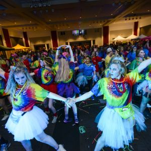 University of Alabama students dance during UADM Main Event 2016